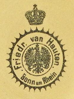 Friedrich van Hauten (und Albert Springmann) / (Friedrich) Van Hauten Sohn, Inhaber Fritz van Hauten 14-10-27-4
